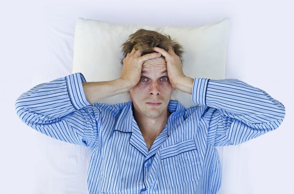 Man hard time sleeping