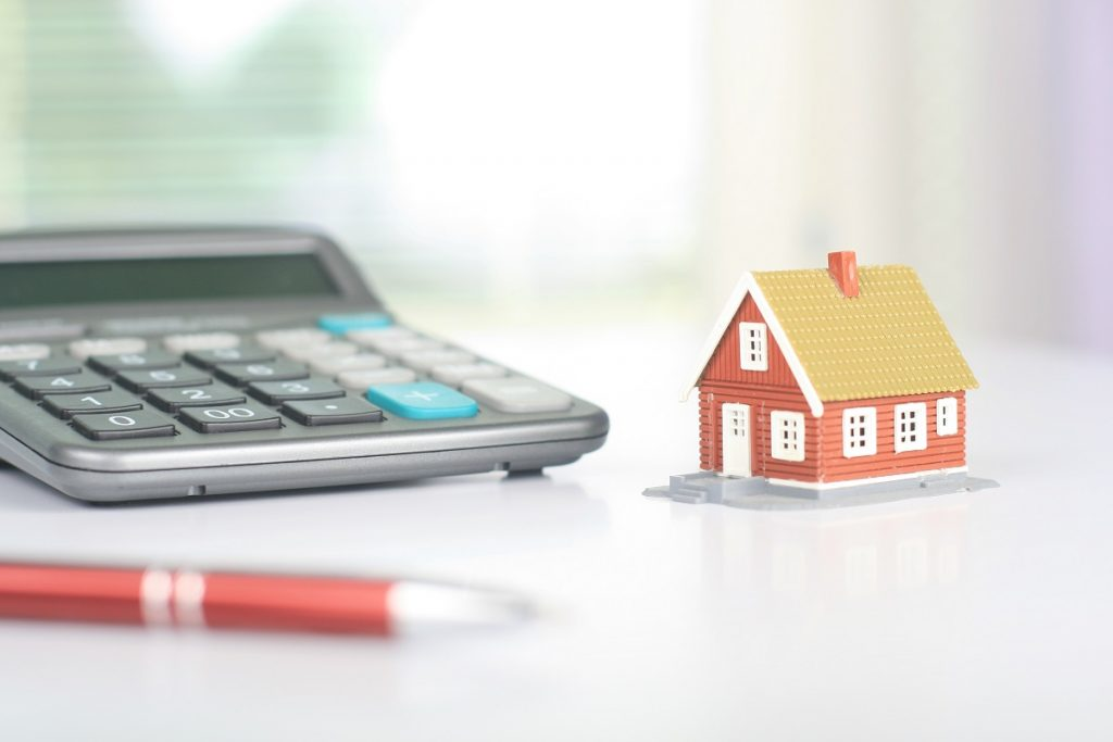 Calculator and small house model