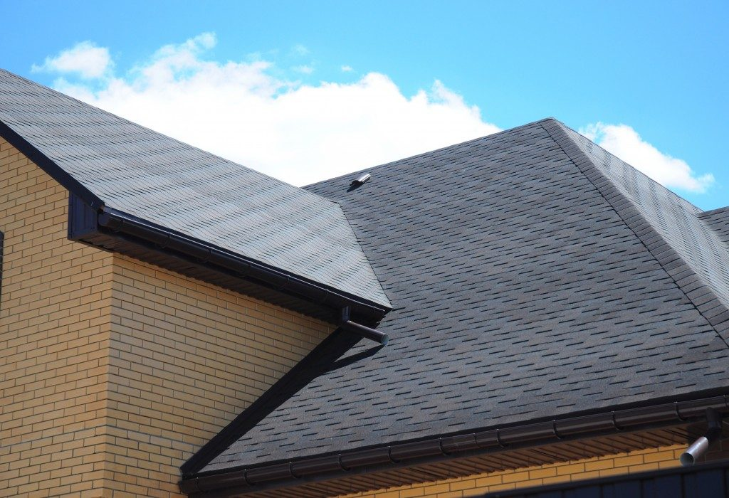 Newly painted roof