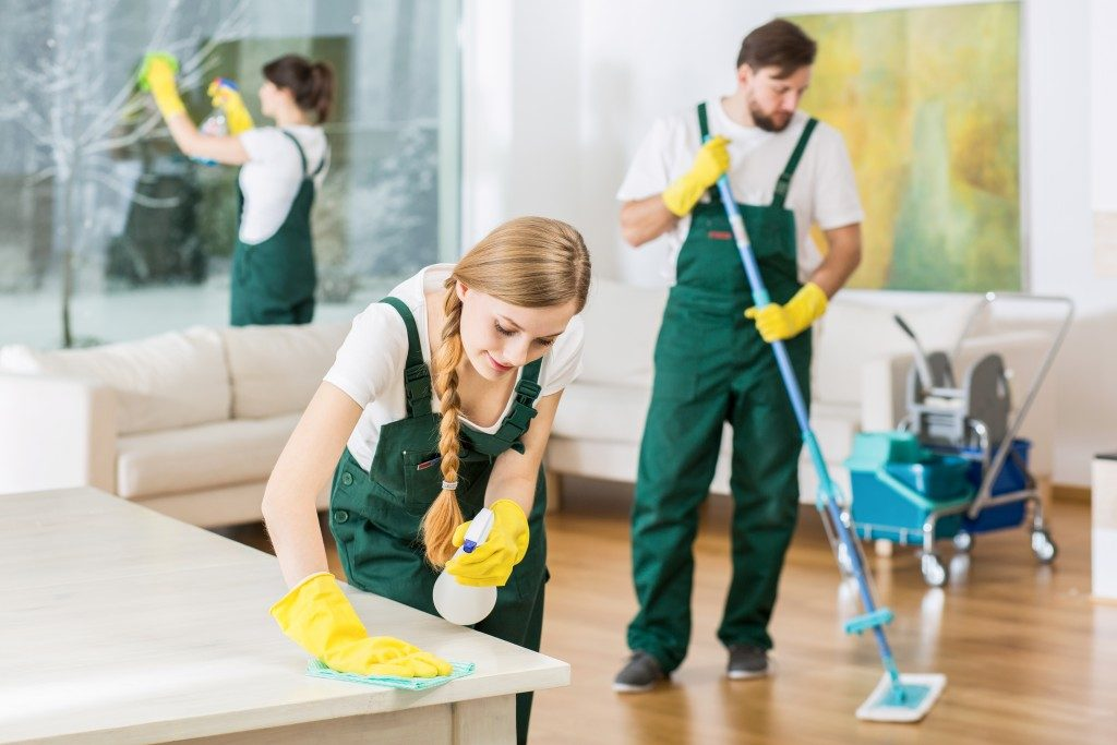 cleaning services cleaning the house