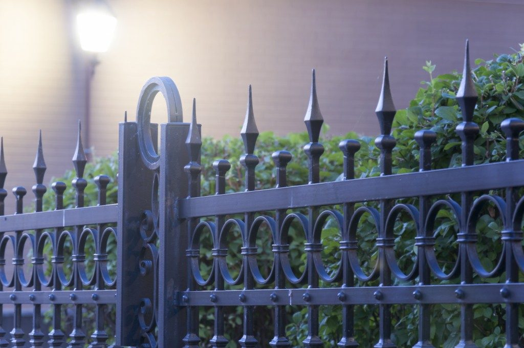 Detailed iron fence