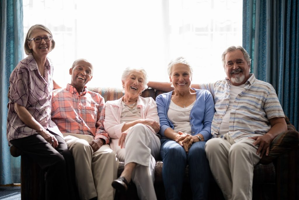 retirees sitting on a couch