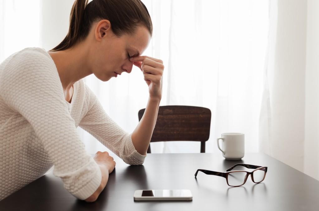 woman feeling bothered