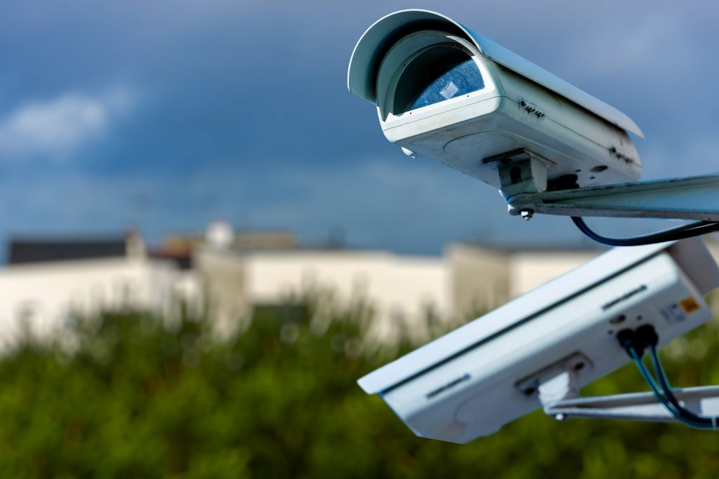 security cameras operating