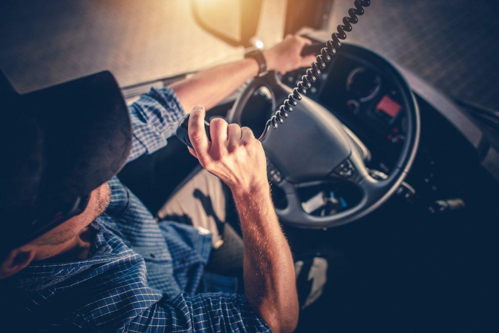 driver talking on the radio