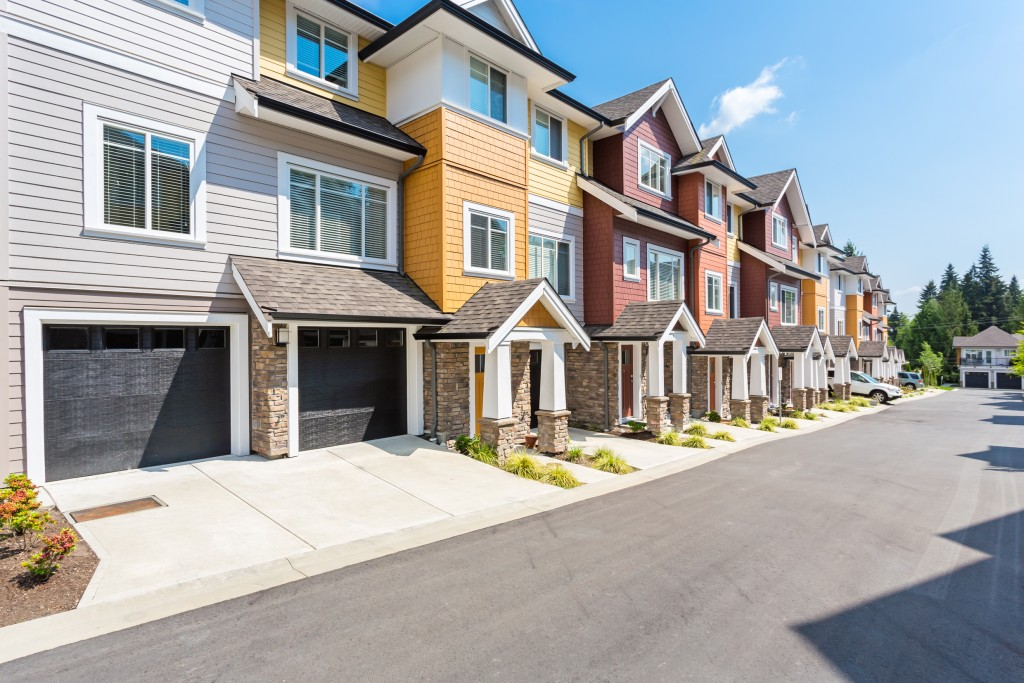 Townhouses in the suburbs