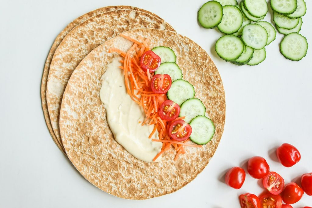 healthy ingredients for wrap